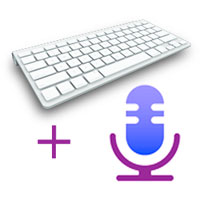 Bluetooth keyboard, on-screen Keyboard and Dictation at the same time!